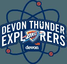 Blue Devon Thunder Logo.